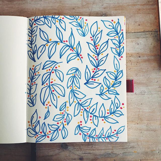 Scribbling leaves & patterns with watercolour pens - my favourite! 🎨  #sketch #art #drawing #illustration #sketchbook #artist #artwork #draw #instaart #painting #pencil #sketching #doodle #pencildrawing #artistsoninstagram #ink #drawings #artoftheday #creative #instaartist #arts #artsy #sketches #illustrator #digitalart #design #instadraw #sketching #sketchbook
