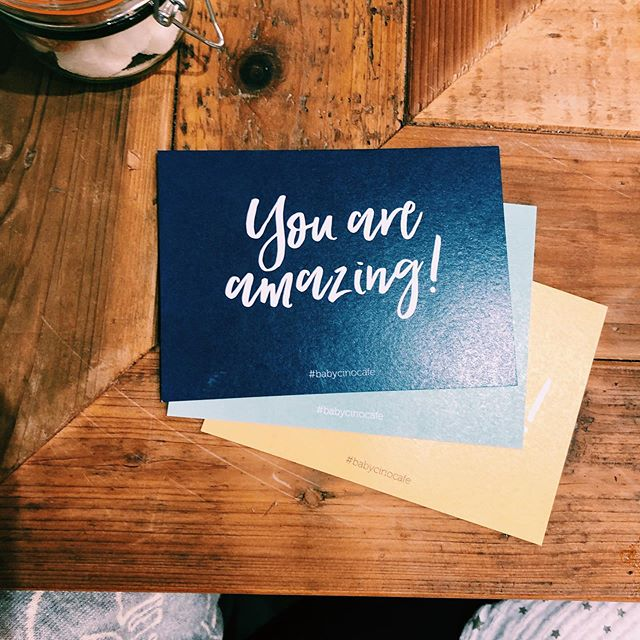Lovely inspirational postcards from @babycinocafe in #tunbridgewells - Cute #postcards on every table, a gentle reminder that you're doing well 👏🏼💪🏼 . . . #mondaymotivation #monday #postcard #typography #graphicdesign #design #daysoftype #art #days #illustration #lettering #type #handlettering #logo #branding #graphic #creative #graphicdesigner #illustrator #goodtype #artist #graphics #photoshop #artwork #font #typedesign #typographydesign