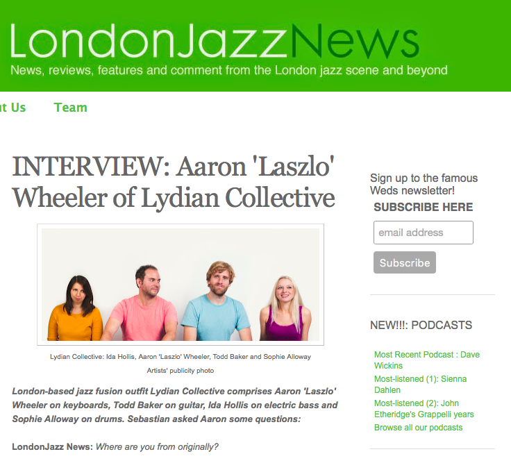 London Jazz News - Lydian Collective