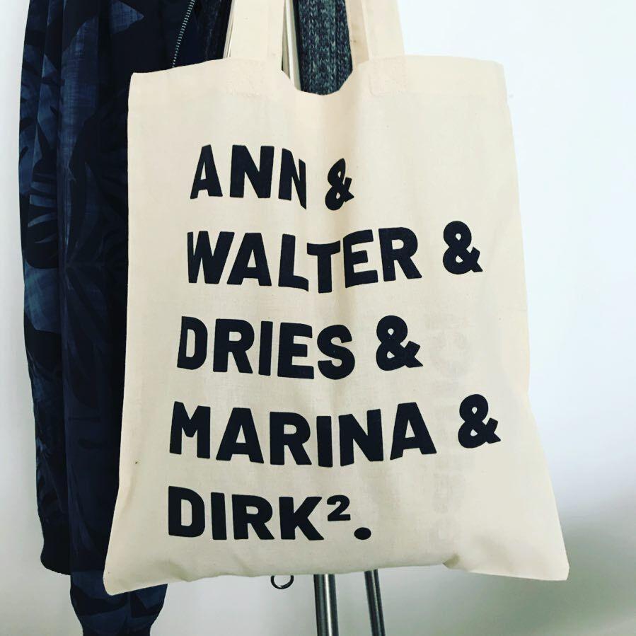#totebag #antwerpfashionweekend #fashion #antwerpen #dirkbikkembergs #anndemeulemeester #waltervanbeirendonck #driesvannoten #dirkvansaene #marinayee #antwerpsezes