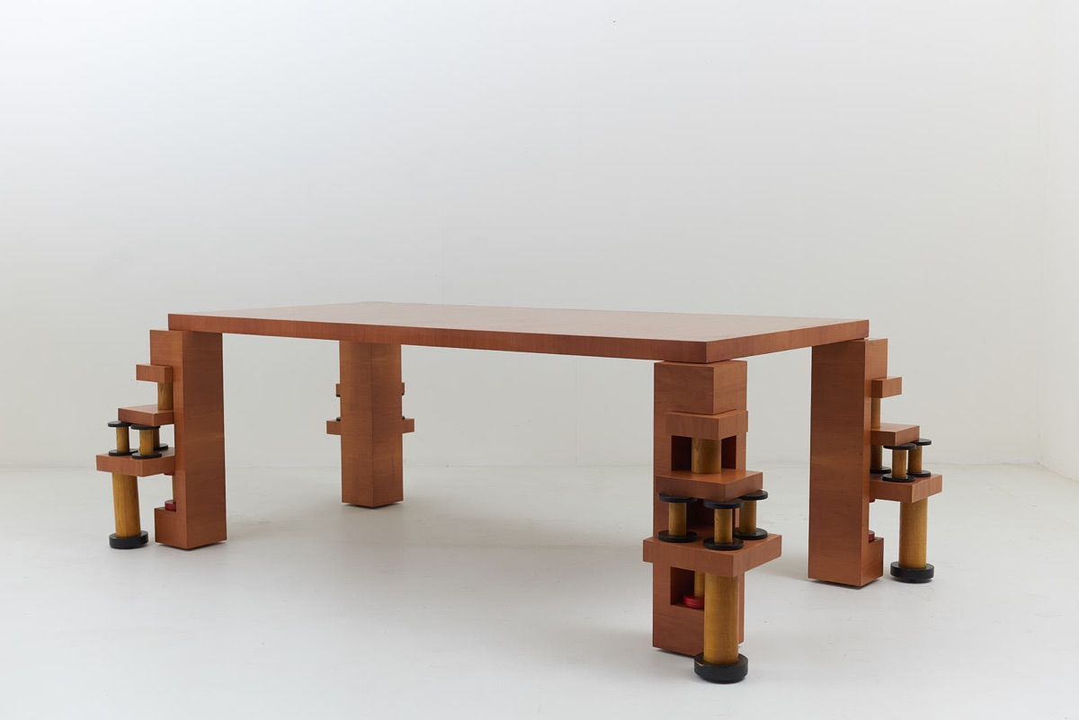 """4 Gopuram"" Table by Ettore Sottsass"