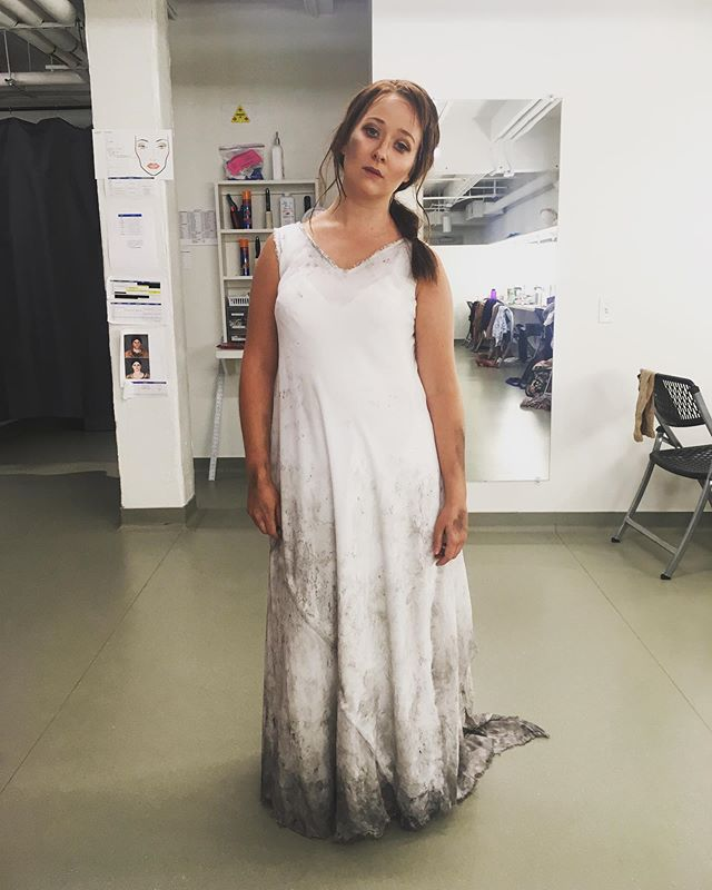 Eurydice is TIRED y'all. But we did it! Getting to perform this scene with @leialensing as my Orfeo and @dpdirects and @pharvey119 at the helm was an absolute dream. So thankful for the opportunities that are given to the apprentices here at @santafeopera 💖💓💕 #sfoapprentices #orfeoedeurydice #gluck #operasingersofinstagram #soprano #mezzo #opera