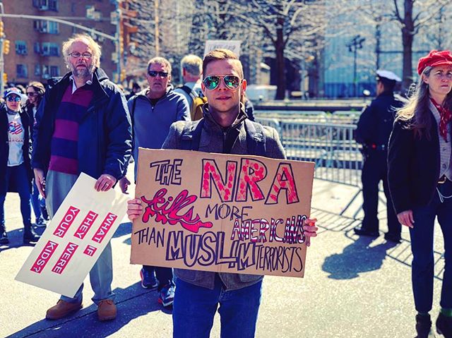 The #NRA kills more Americans than Muslim terrorists #marchforourlives #march #protest #manhattan #nyc #DEMOCRACY #firstammendment