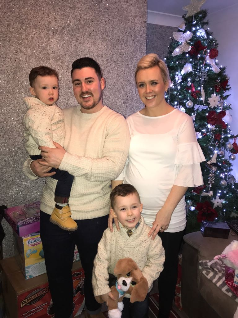 Sean & Gillian with their boys Levi & Liam.