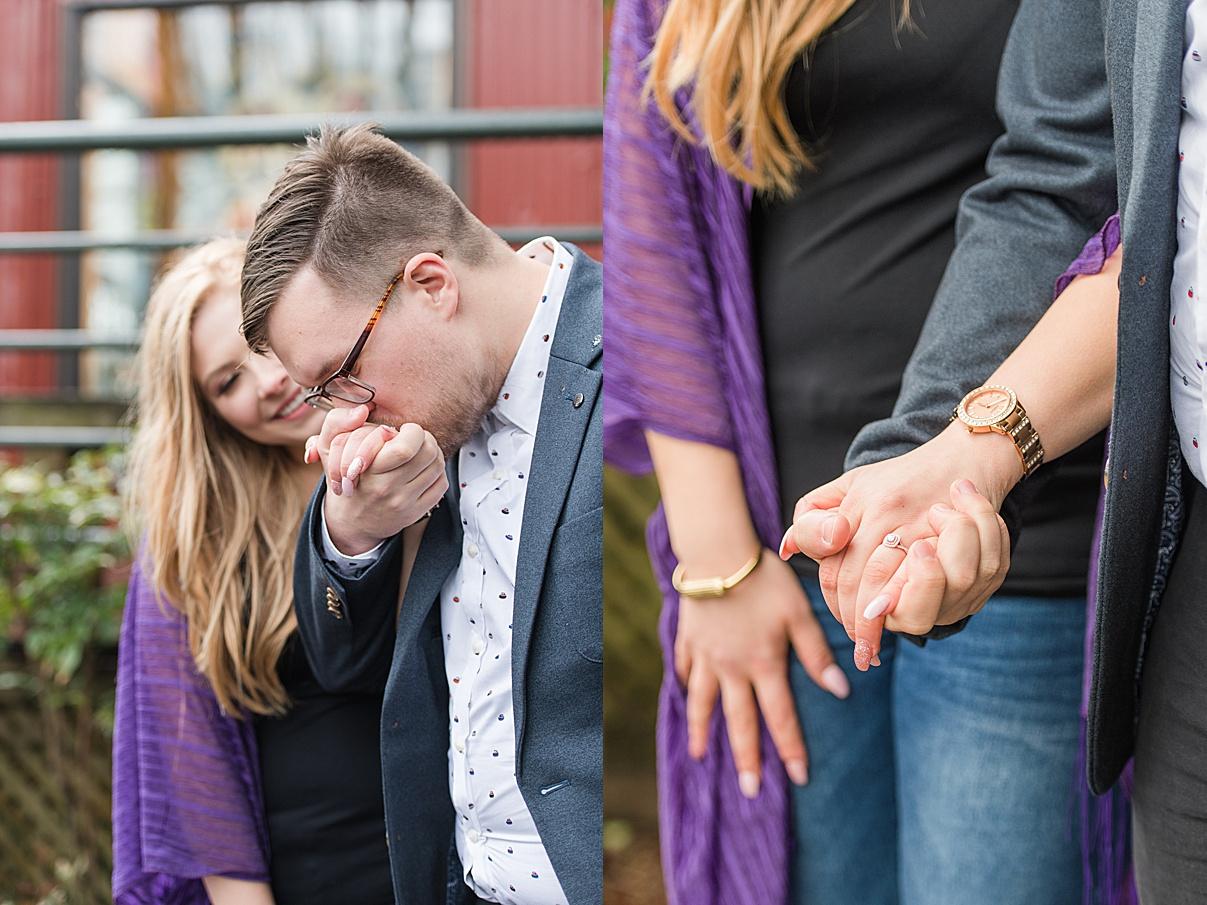 Birmingham Wedding Photographer couple holding hands while walking