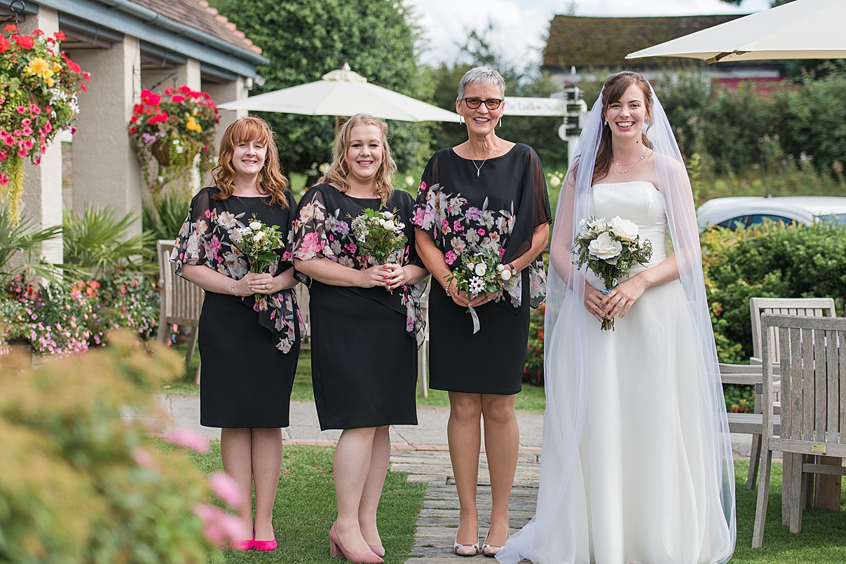 bridal party by West Midlands Wedding Photographer