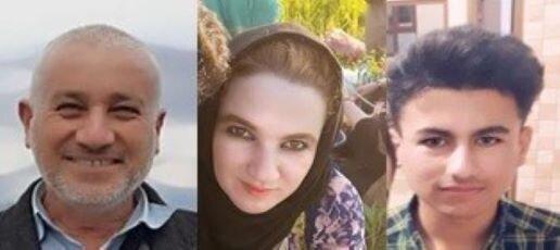 Abdullah Aali Mina, his daughter Kurdistan and son Haryad
