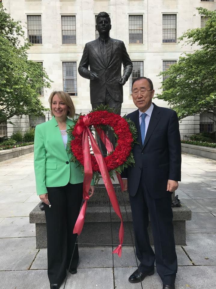 Rep. Ehrlich welcome 8th Secretary-General of the U.N. Ban Ki-Moon to the State House