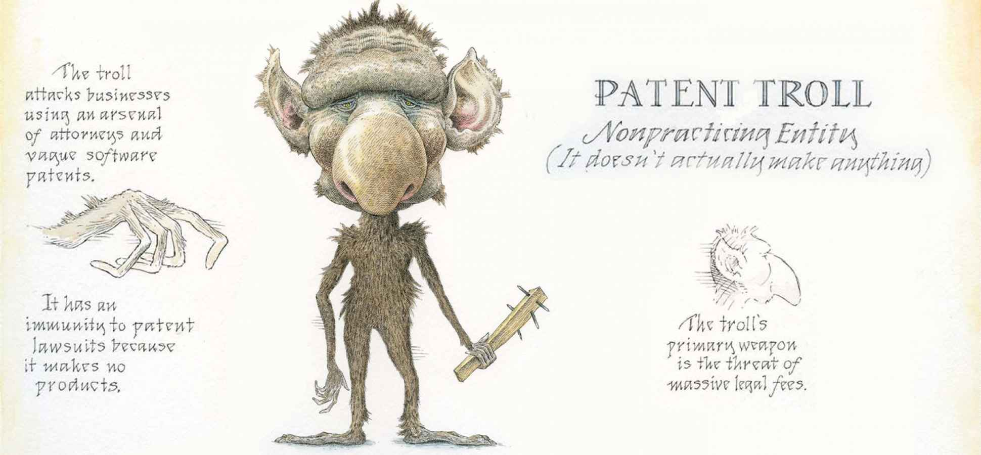 Illustration of patent troll.  INC.  14 Feb. 2013