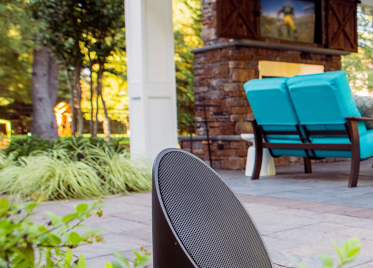 Outdoor Systems - Whether you have cover or you're in the sun, the rain or even freezing snow, our integrations are tailored to fit your outdoor environment. We offer a range of all-weather outdoor audio systems that are not only designed to deliver high-end performance, they are aesthetically pleasing in outdoor environments.Pictured: Coastal Source 2-Way Ellipse Bollards