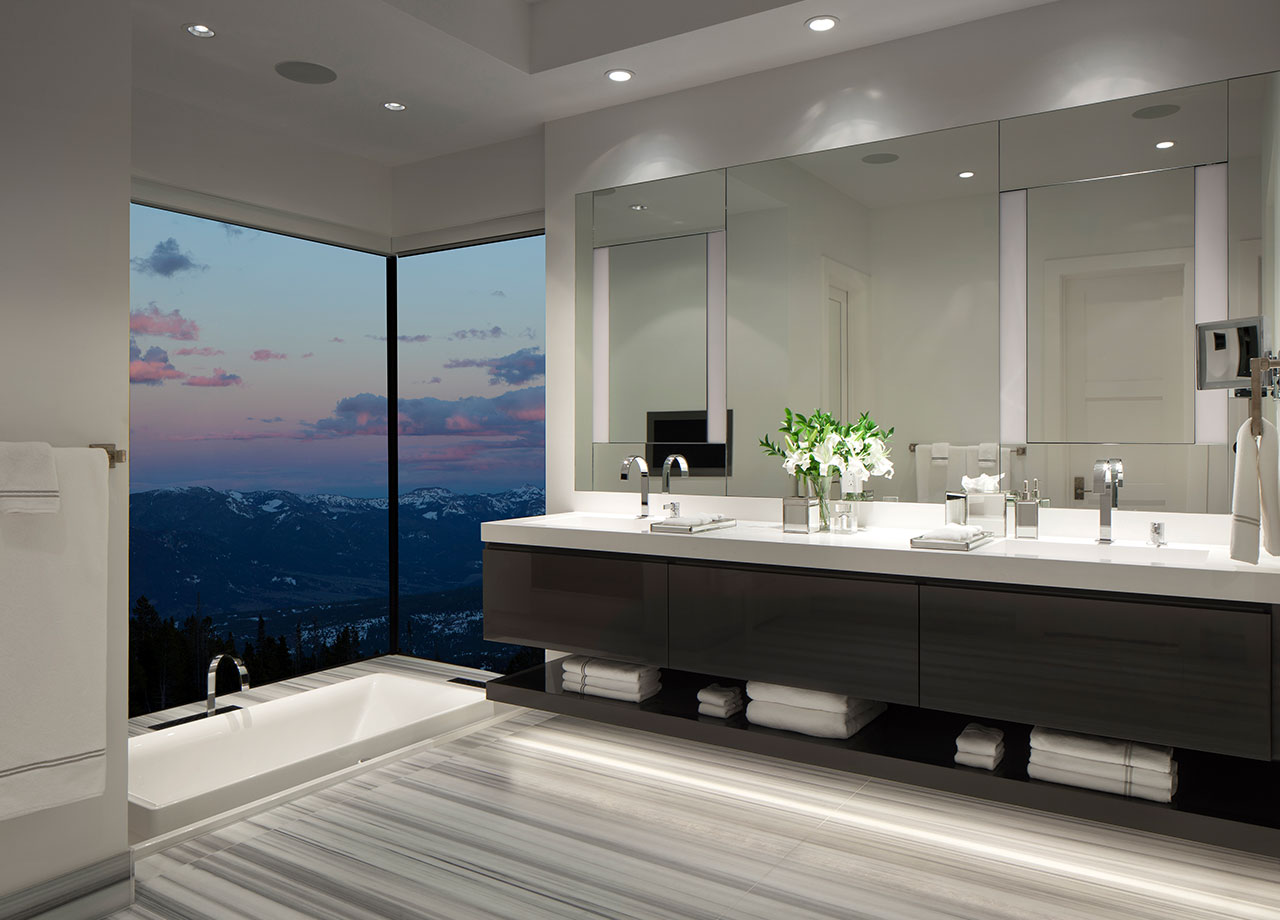 Interior Lighting Control - The perfect atmosphere is at your disposal. SAV Digital Environments is your fully-integrated automation and control solution for interior lighting. Perfectly fit for your lifestyle, we offer unlimited personalization and customization to help you maximize efficiency, convenience, and enhanced levels of comfort throughout your space. Let us help you bring your style to life.
