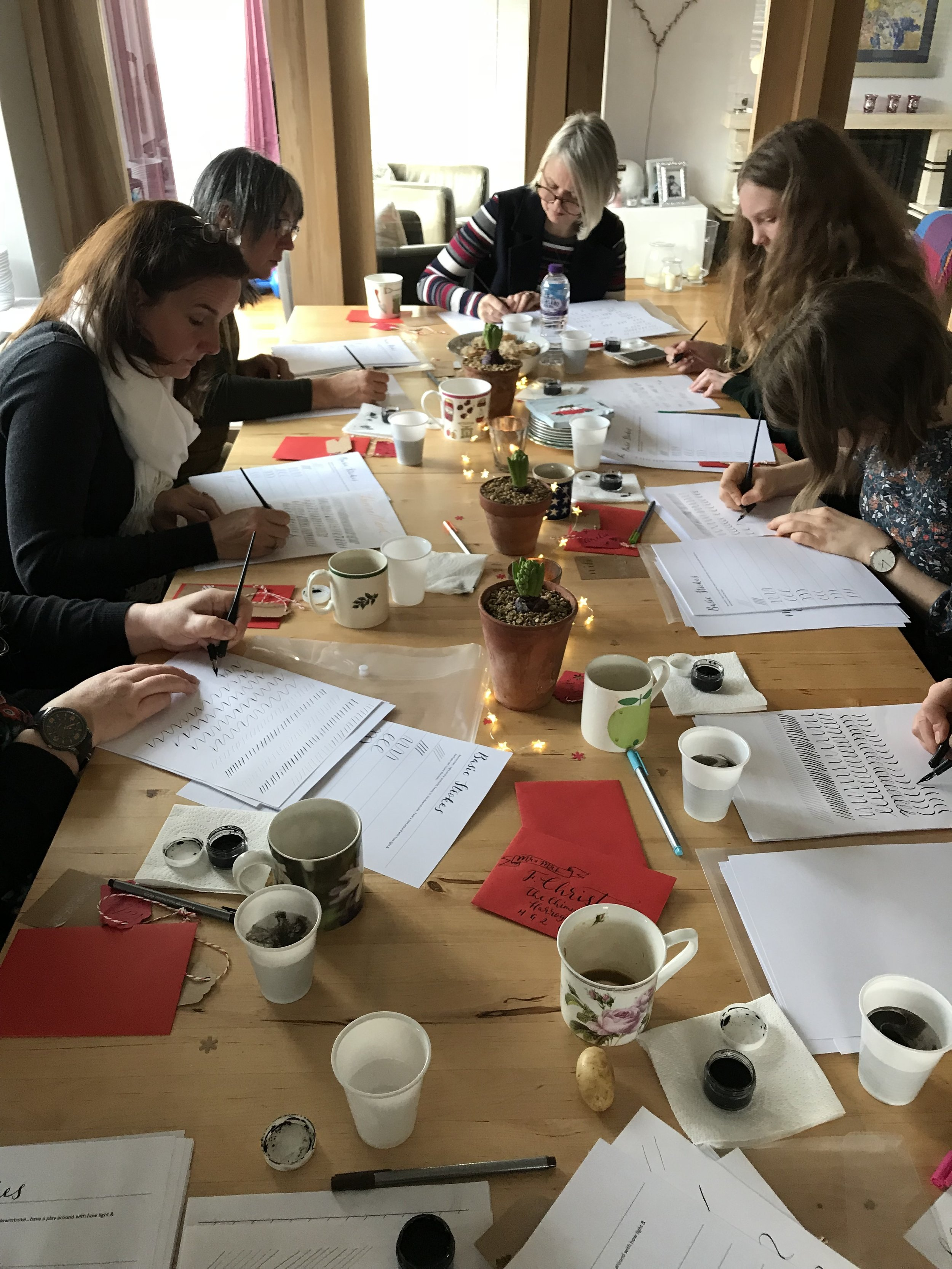 modern calligraphy workshop yorkshire