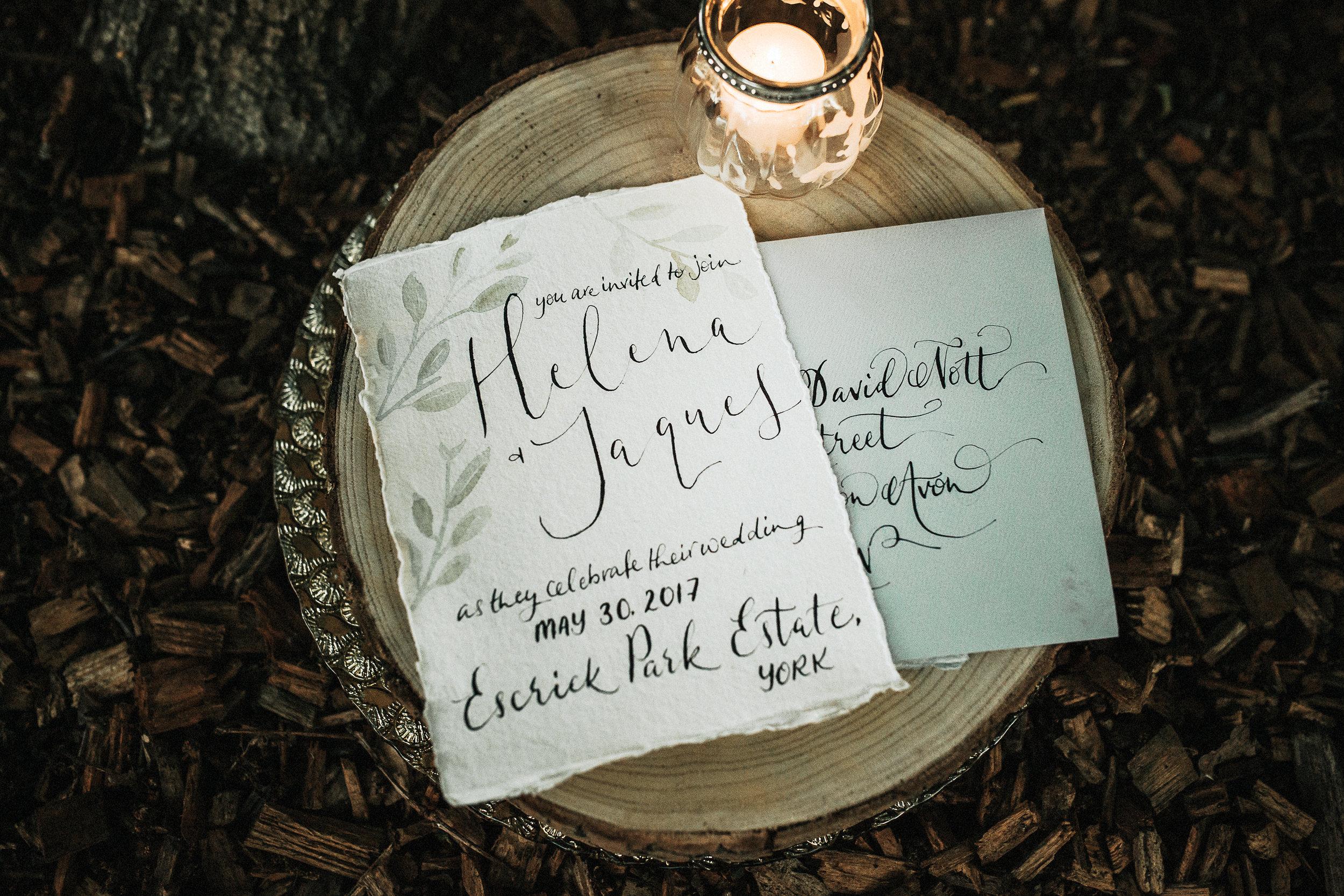 calligraphy wedding invitation envelope