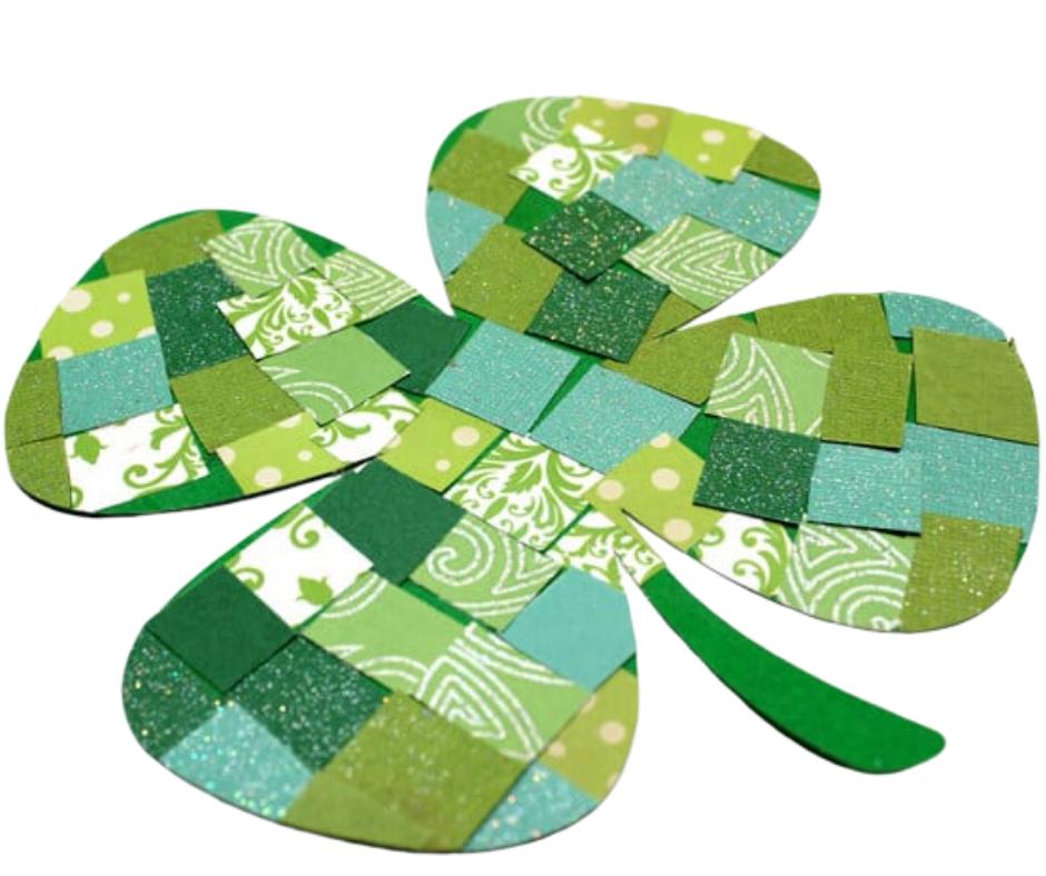 Mosaic paper shamrock