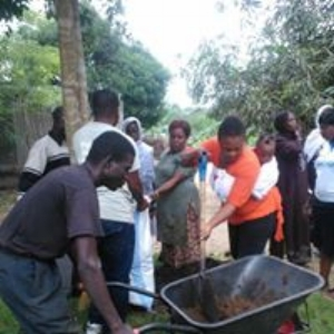 Families in Krisan Refugee Settlement learning to micro-garden in order to have food on their tables.