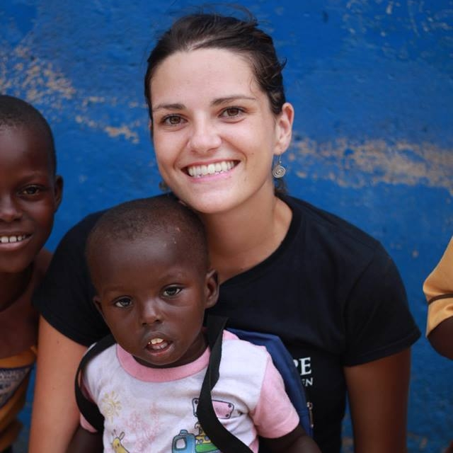 Sara with children from the Point Hope Early Childhood Learning Center.