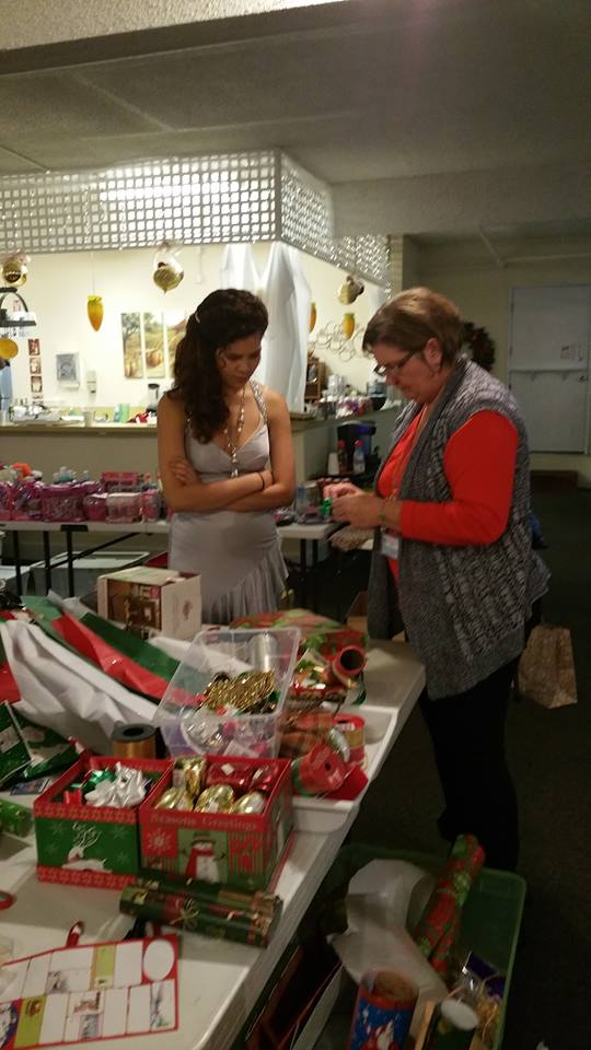 """The """"Gifting Station"""" is one of the favorite stops for the girls. It is so much fun for them to pick out gifts that they will be able to put under someone's Christmas tree, selected and wrapped by them personally."""