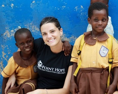 Sara volunteered with Point Hope Ghana to be one person who made a difference.
