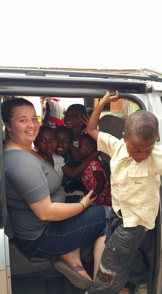 A van ride with local kids