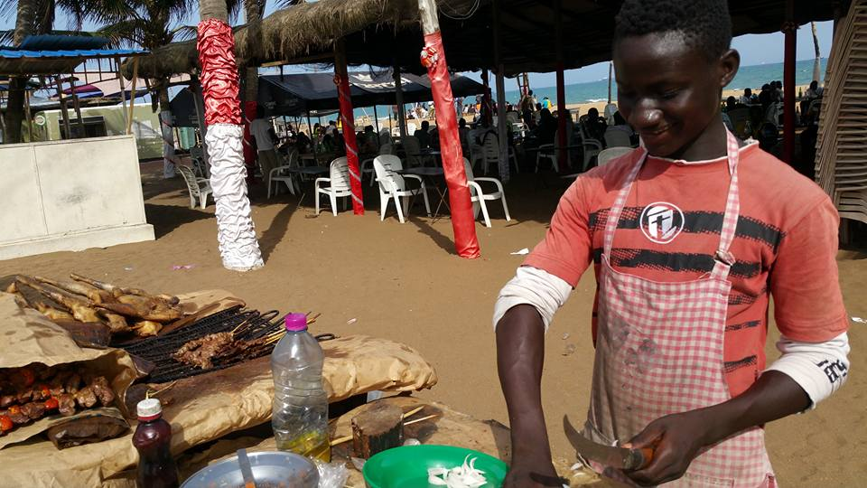 Togo street/beach food vendor