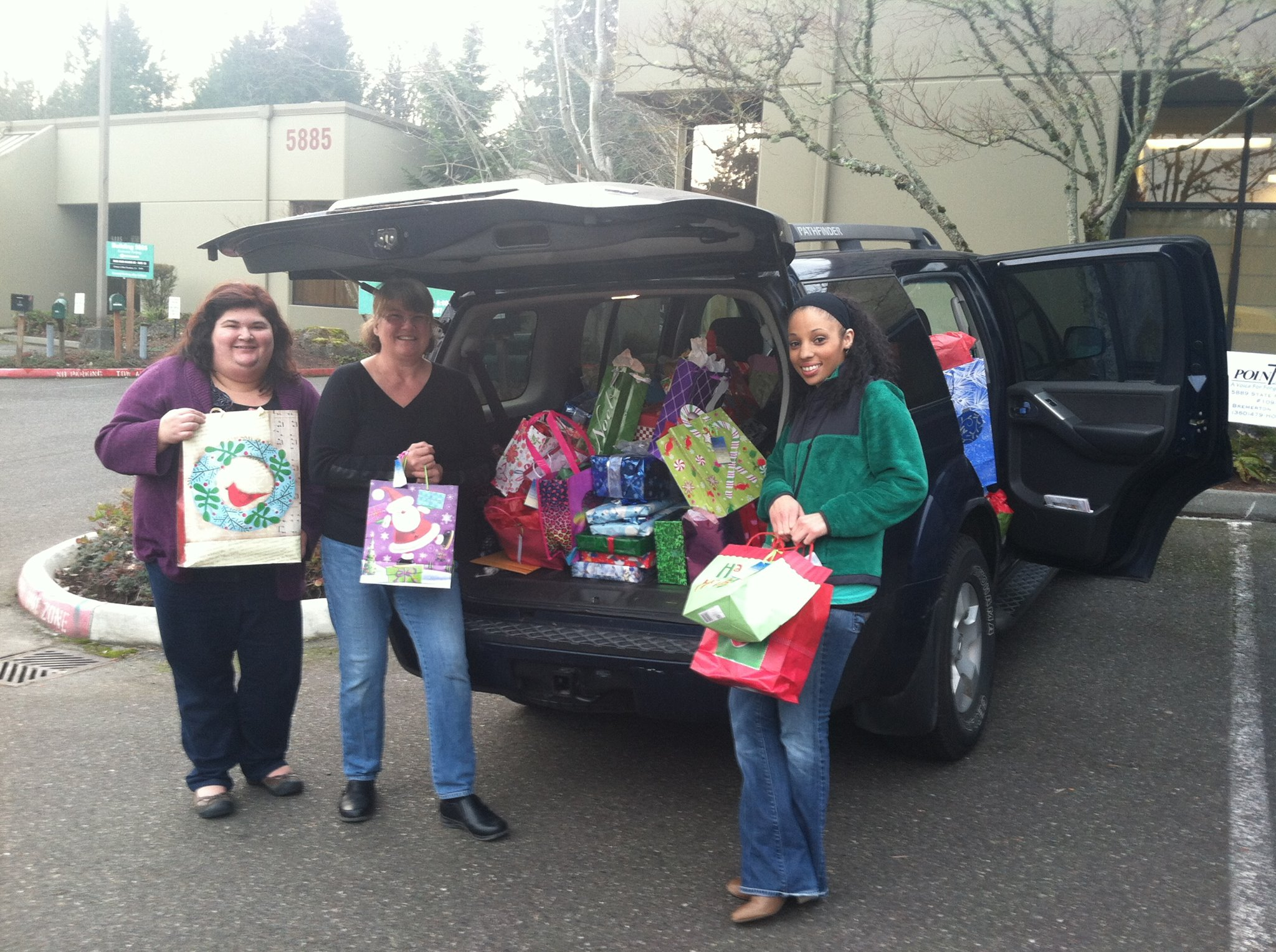 An Angel Tree was set-up at a neighborhood business and donations were collected for the annual Point Hope Teenista for girls in foster care.  We also had to collect financial donations to make the event successful.