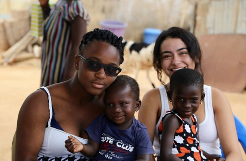 Blessing and Jessie came across the ocean to volunteer with Point Hope Ghana (mostly to hold a whole lot of kids--and did they ever!), which only goes to prove, no matter their age or experience, ANYONE can volunteer and be a voice for forgotten children.