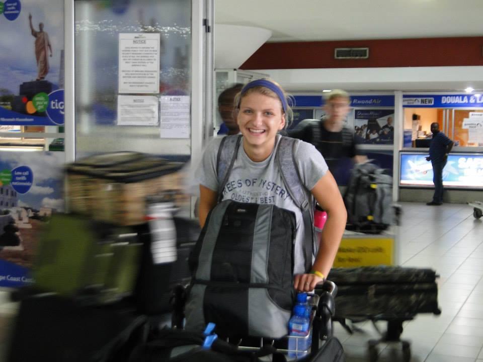 Laurel, Ryan and Delilah arrived together at Kotoka International Airport.