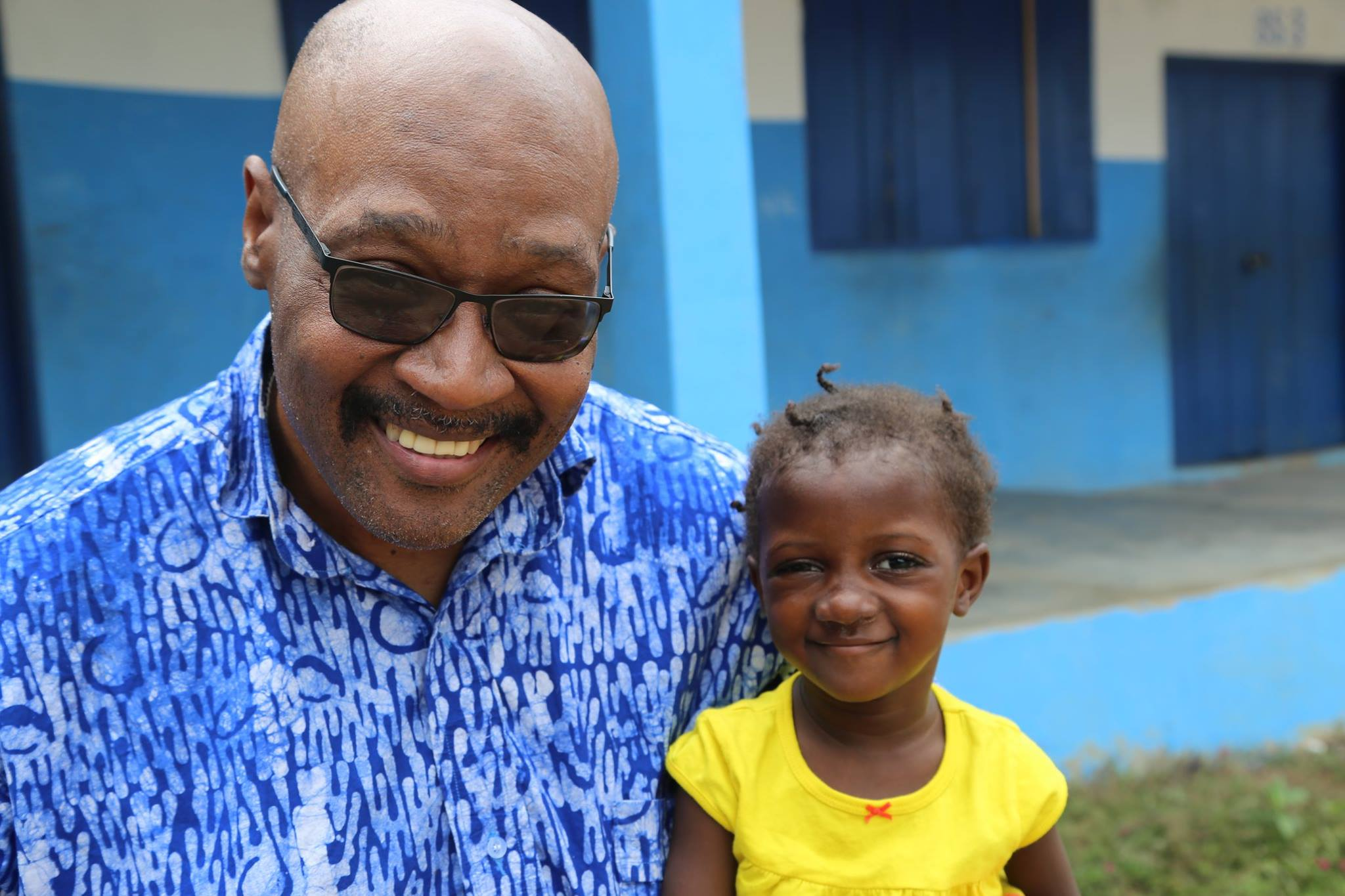 Papa G, a volunteer who returns annually to work with Point Hope Ghana, is very popular with the children and Sangay is no exception.