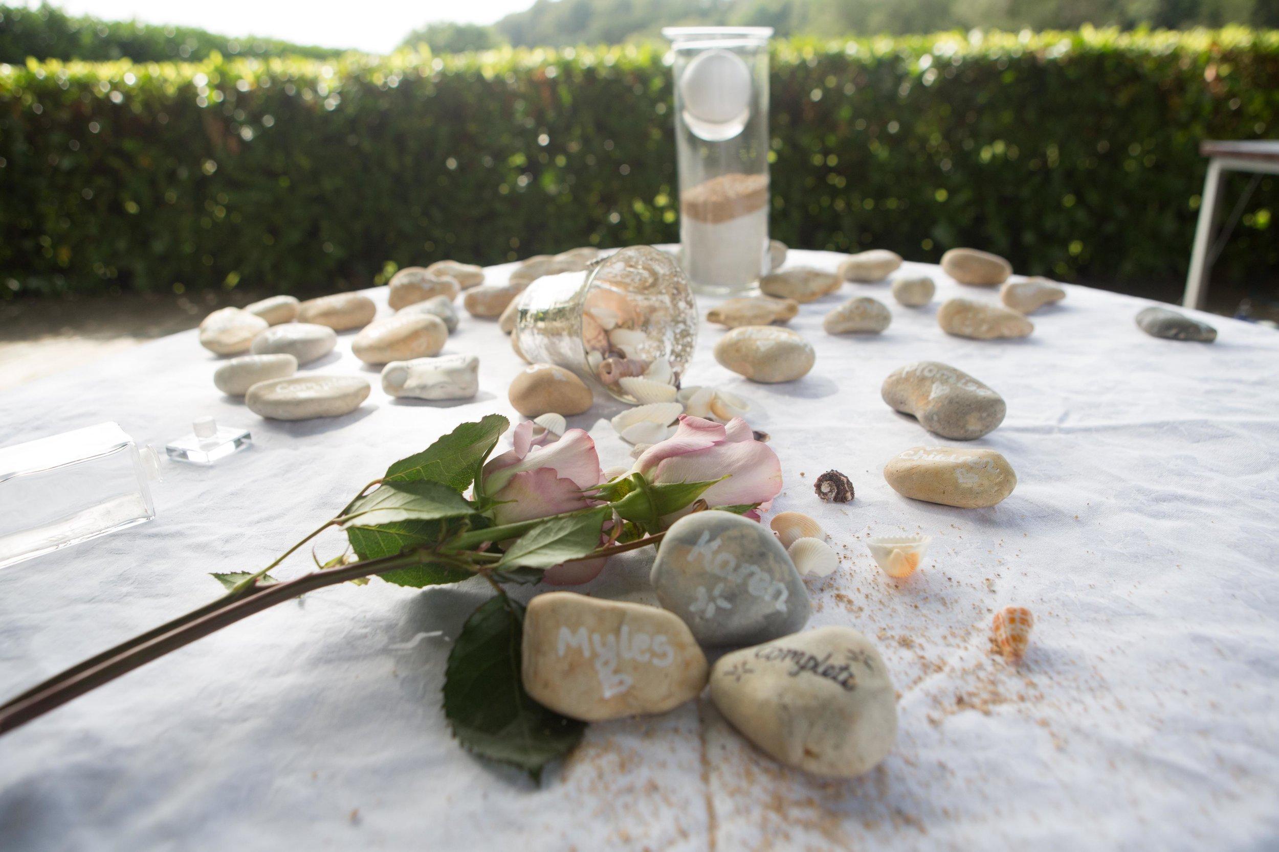 Pebbles from Karen + Myles Wedding