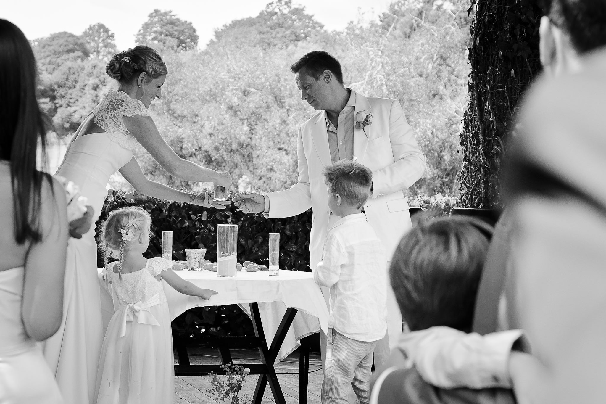 A Sand Ceremony involving the whole family!
