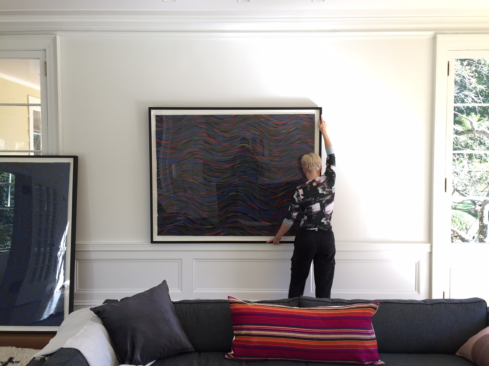 Installation of a client's art collection.