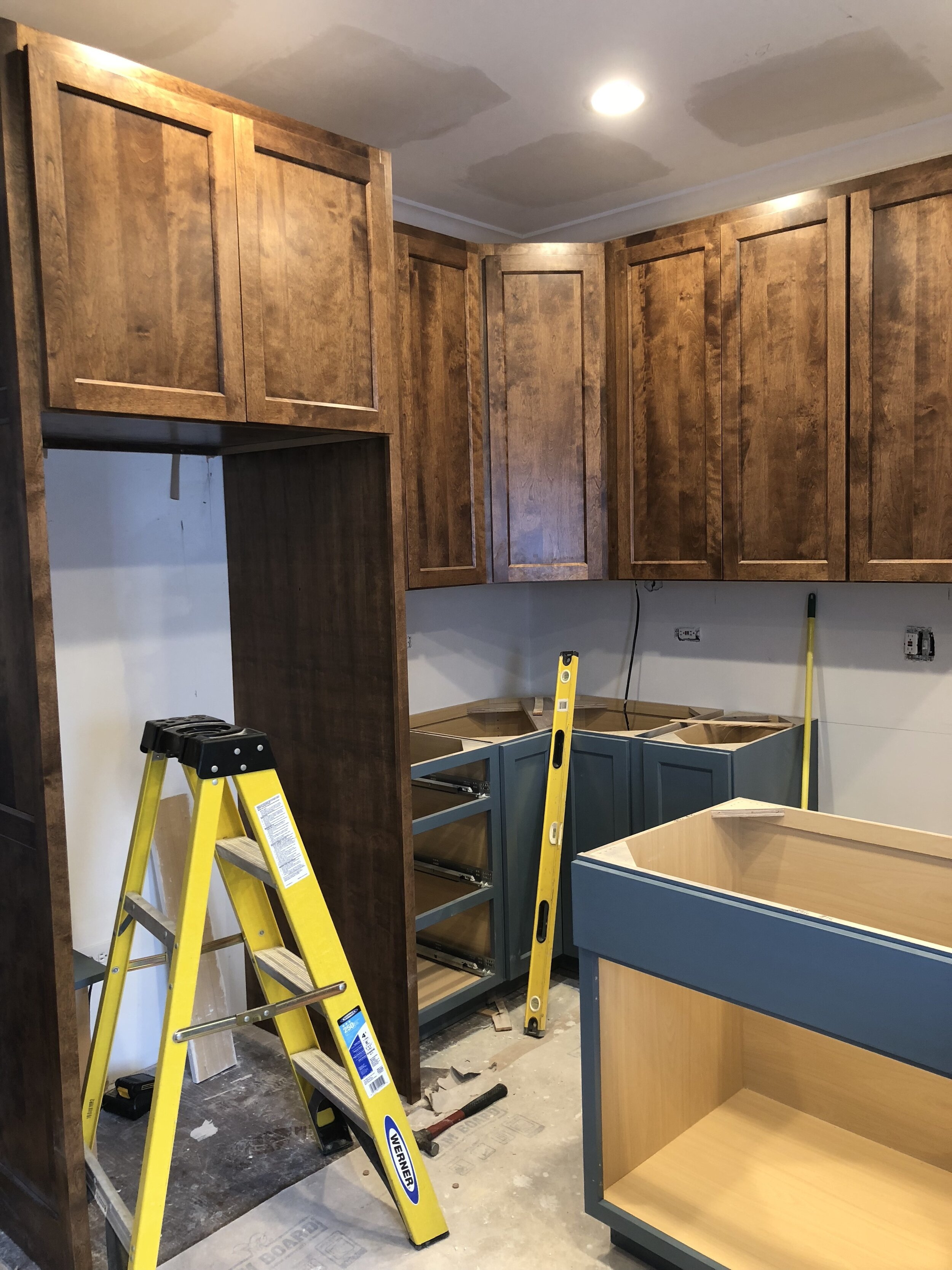 It's such a great day when the cabinets go in!