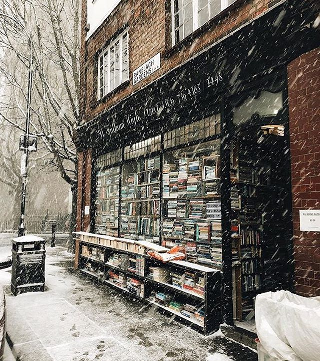 Repost by @kristinemarcos of our lovely shop in the snow the other week ❄️⛄️ what a place to get snowed in!!