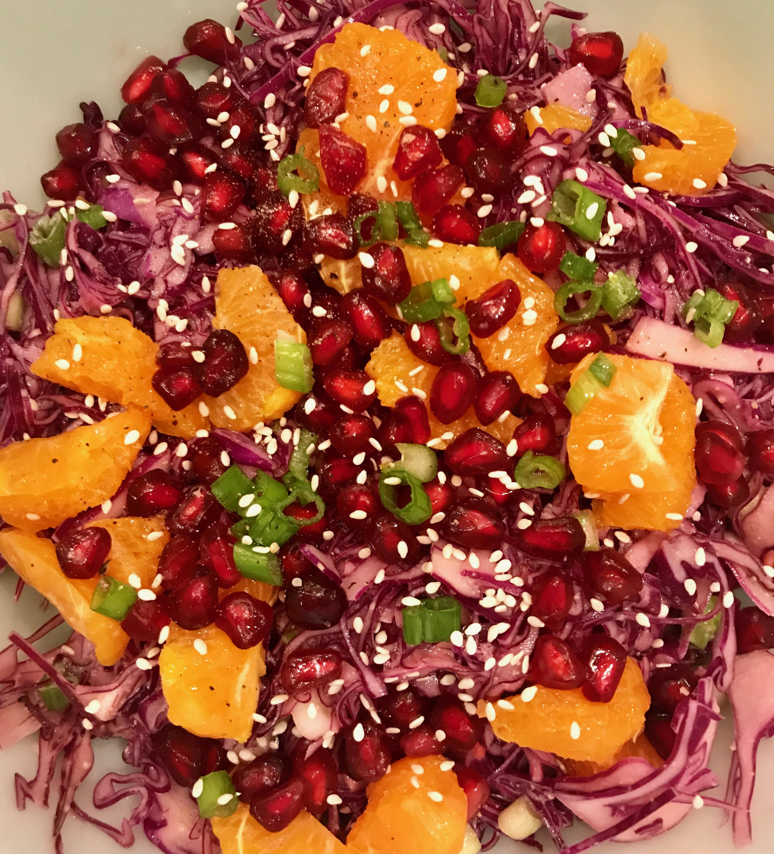 Red Cabbage Salad with Spicy Peanut Vinaigrette