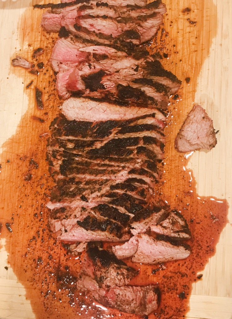 Coffee-rubbed steak