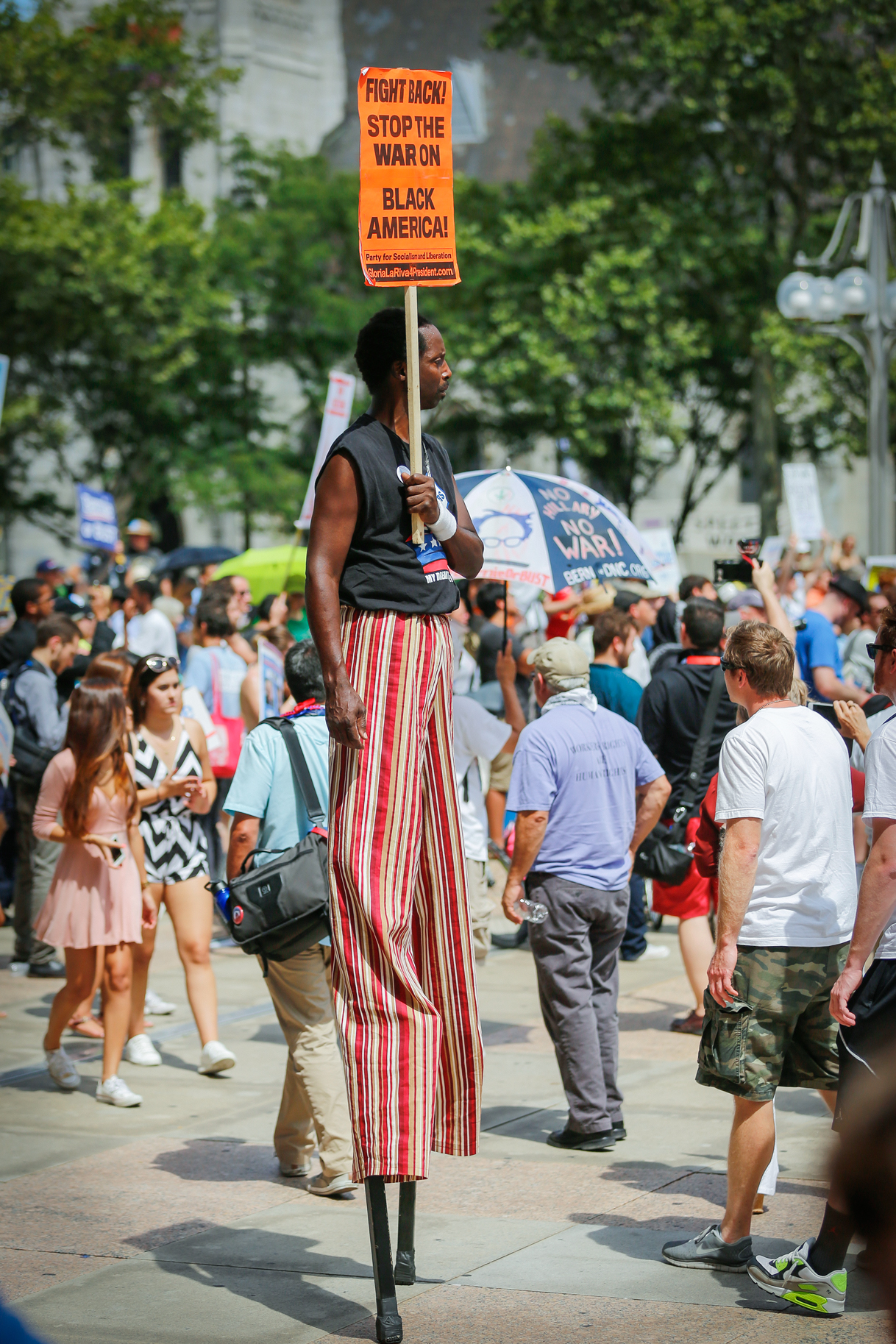 Stilt-Walker at 2016 DNC