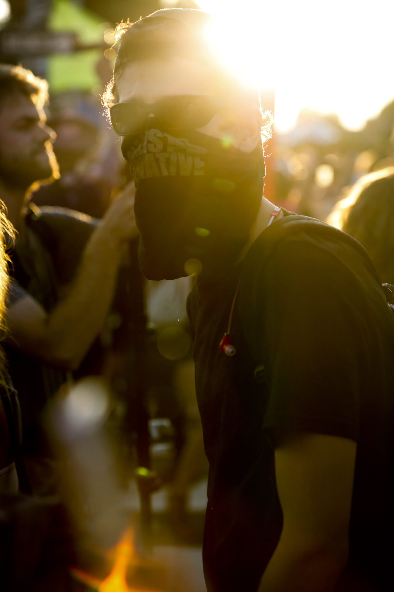 Sun Sets on Another Masked Protestor