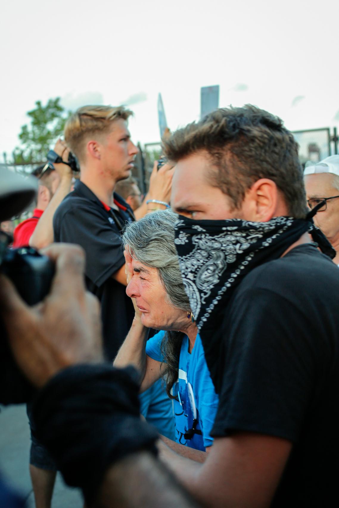 Demonstrator Gets Pepper Sprayed by Police