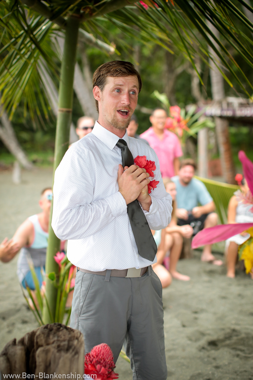 Jory expressing his vows to Sherri. Taken in Carate, Costa Rica. June 2018.