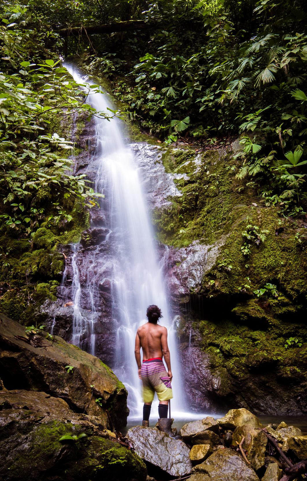 Joaquin at the Waterfall