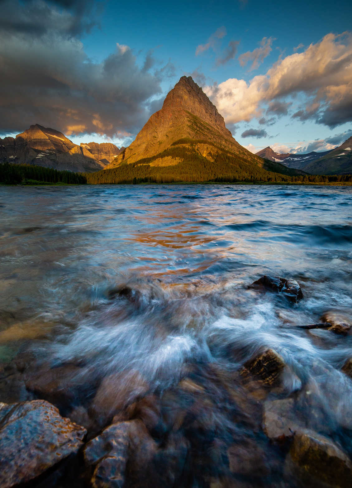 Swiftcurrent Lake and Grinnel Point