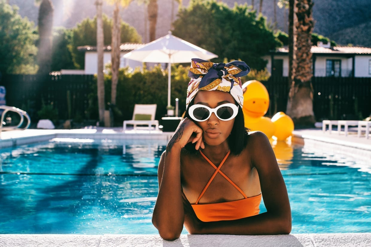 "Don't Let Chlorine Dull Your Summer Hair (Or Your Skin) - We are taking a deep dive (no pun intended) into the effects of chlorine on the hair and skin.Chlorine is a chemical used to sanitize water and keep bacteria at bay in pools and jacuzzis. Although many of us associate chlorine with swimming pools, Alissia Zenhausern, N.M.D., a naturopathic physician at NMD Wellness of Scottsdale says, it is ""one of the most commonly manufactured chemicals in the United States. However, a lot of people don't realize that they are constantly exposed to chlorine every time they shower [or turn on the sink faucet], as tap water is treated with chlorine."""