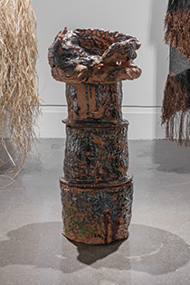 Mary Grisey, Echoes from the Adytum , 2015, Earthenware and sound, XIT-RM Gallery, Art Gallery of Mississauga. Photo by Toni Hafkenscheid.