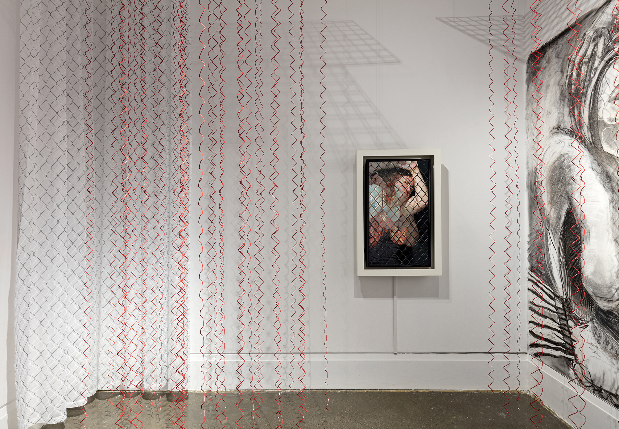 Kim Lee Kho, Chains Unlinked , XIT-RM Gallery, Art Gallery of Mississauga. Photo by Toni Hafkenscheid.