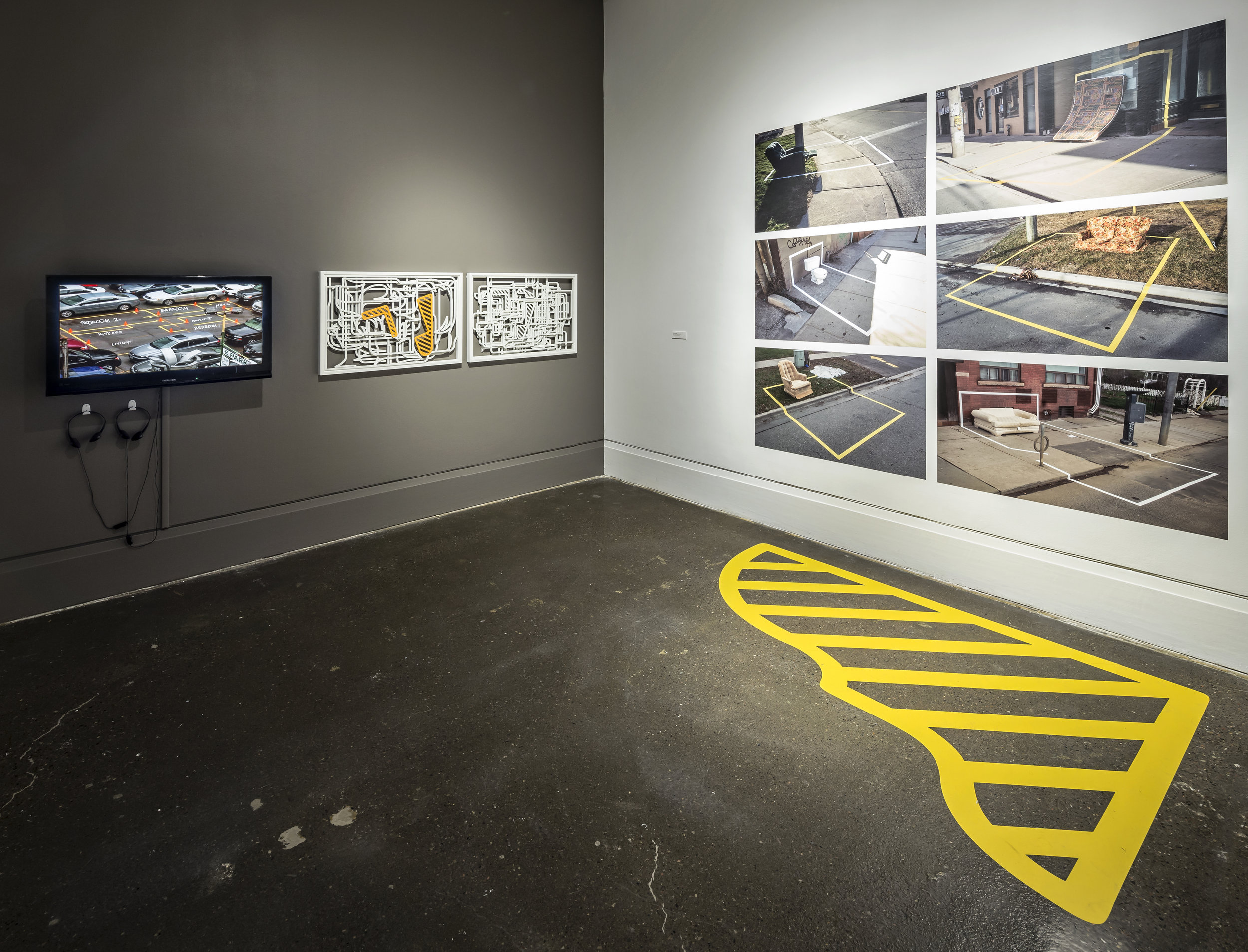 Susan Campbell, Tracing Ambiguity , XIT-RM Gallery, Art Gallery of Mississauga. Photo by Toni Hafkenscheid.