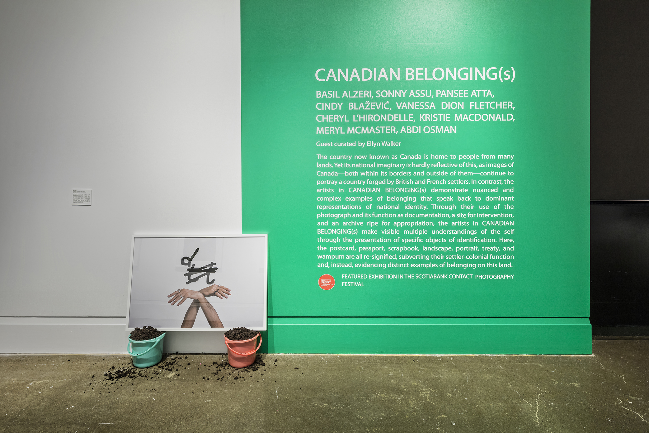Canadian Belonging(s) , Robert Freeman Gallery, Art Gallery of Mississauga. Photo by Toni Hafkenscheid.