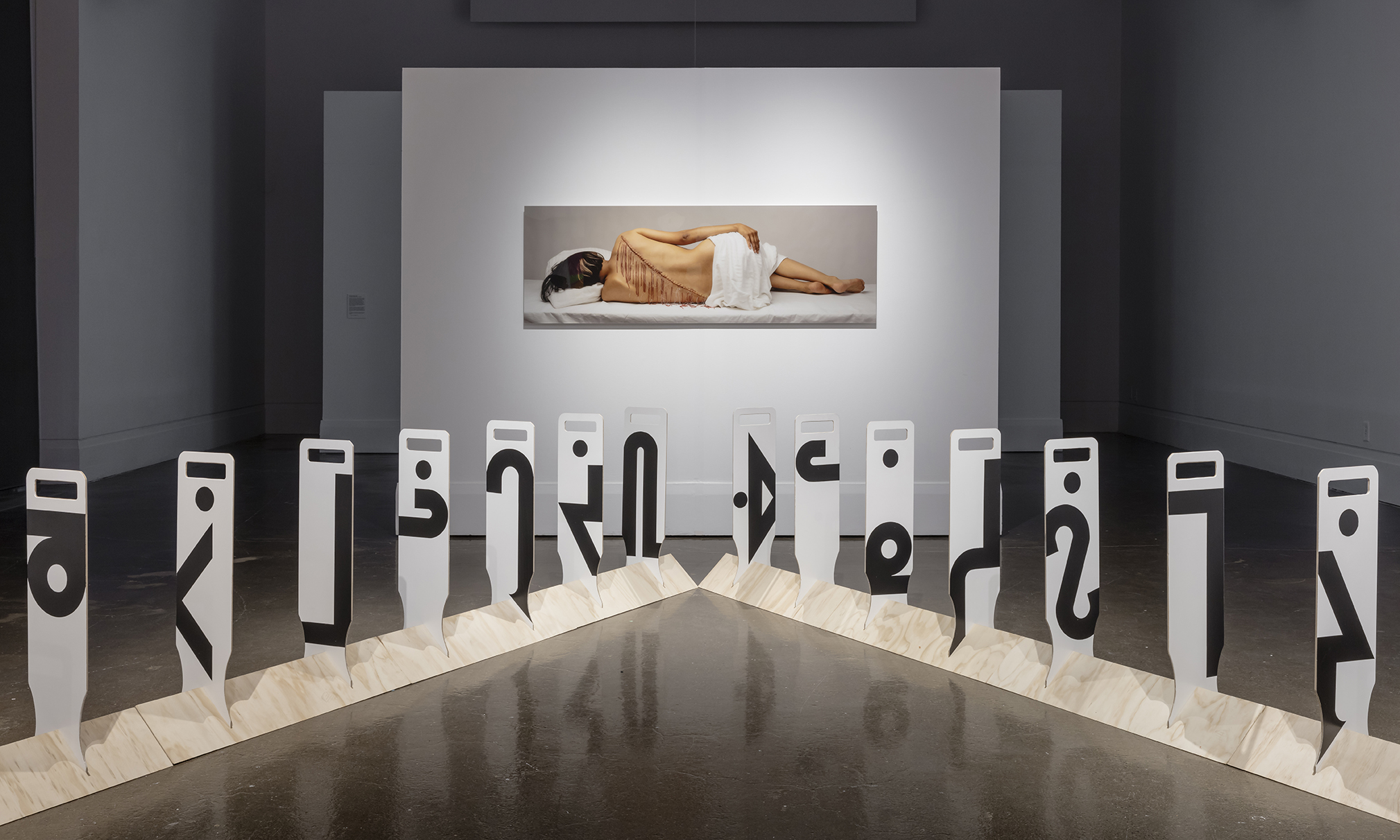 niigaanikwewag , Main Gallery, Art Gallery of Mississauga, Photo by Toni Hafkenscheid