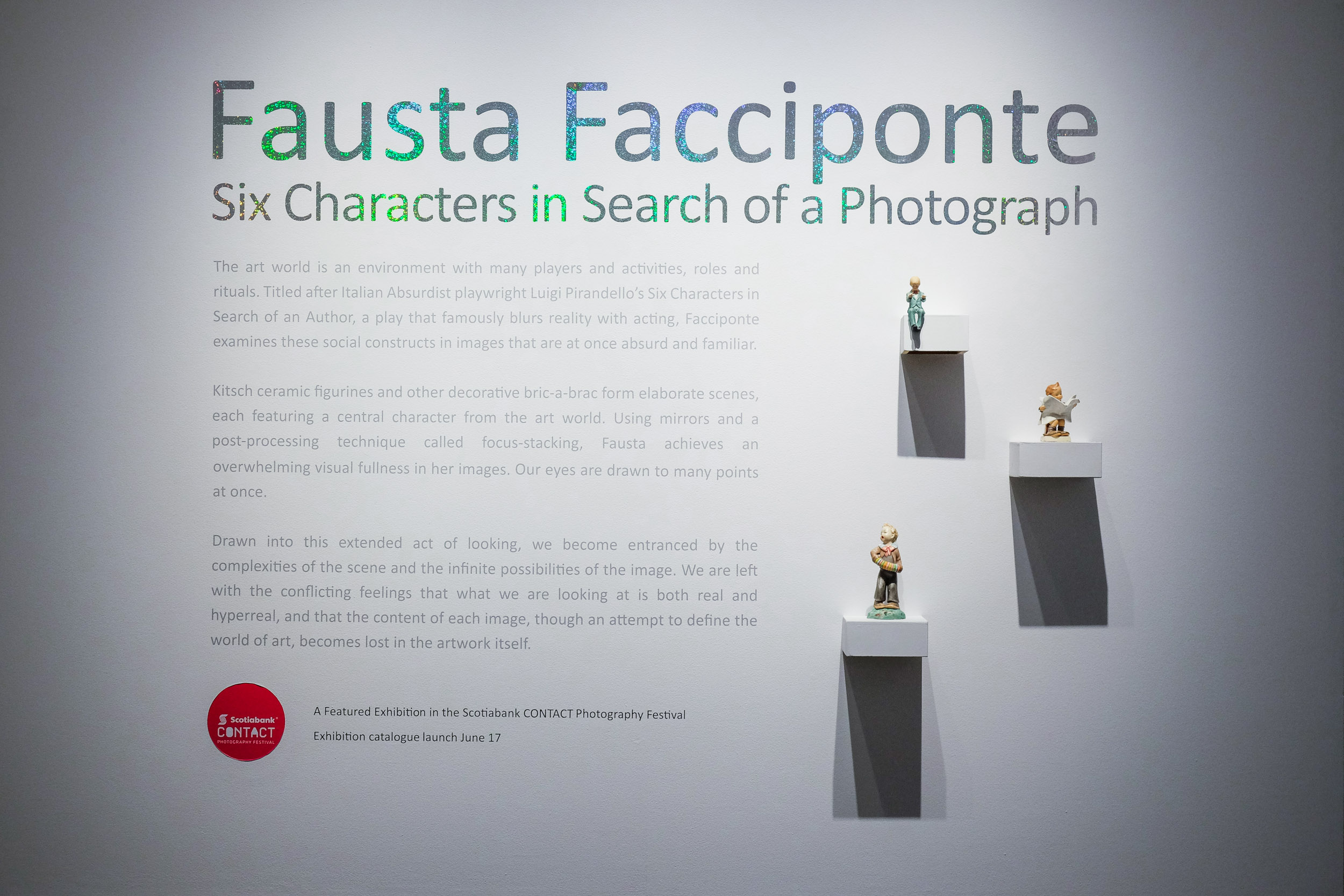 Six Characters in Search of a Photograph , Main Gallery, Art Gallery of Mississauga. Photo by Janick Laurent.