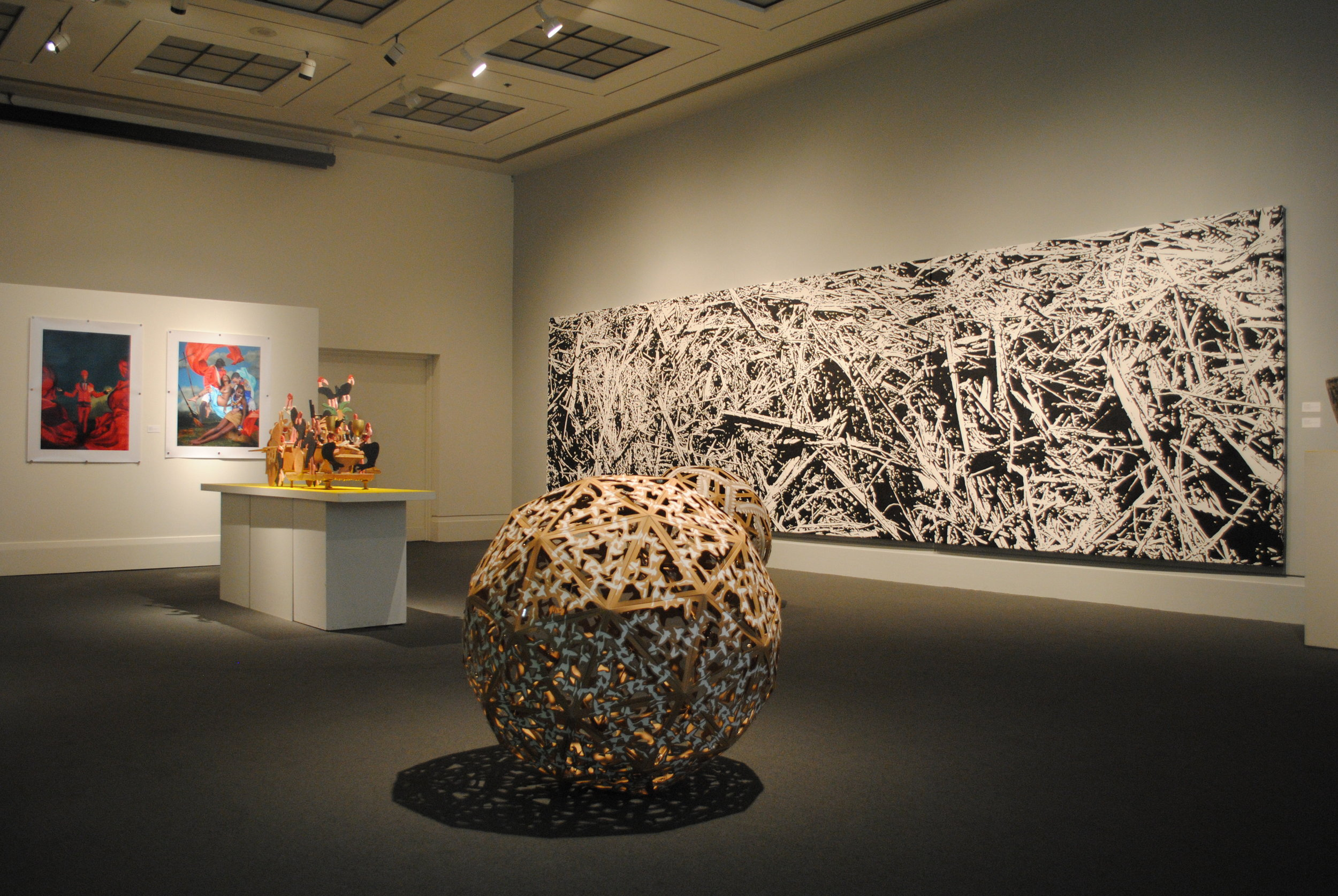 Contemporary Jamaican Art, Circa 1962, Circa 2012 , Main Gallery, Art Gallery of Mississauga. Photo by Janick Laurent.