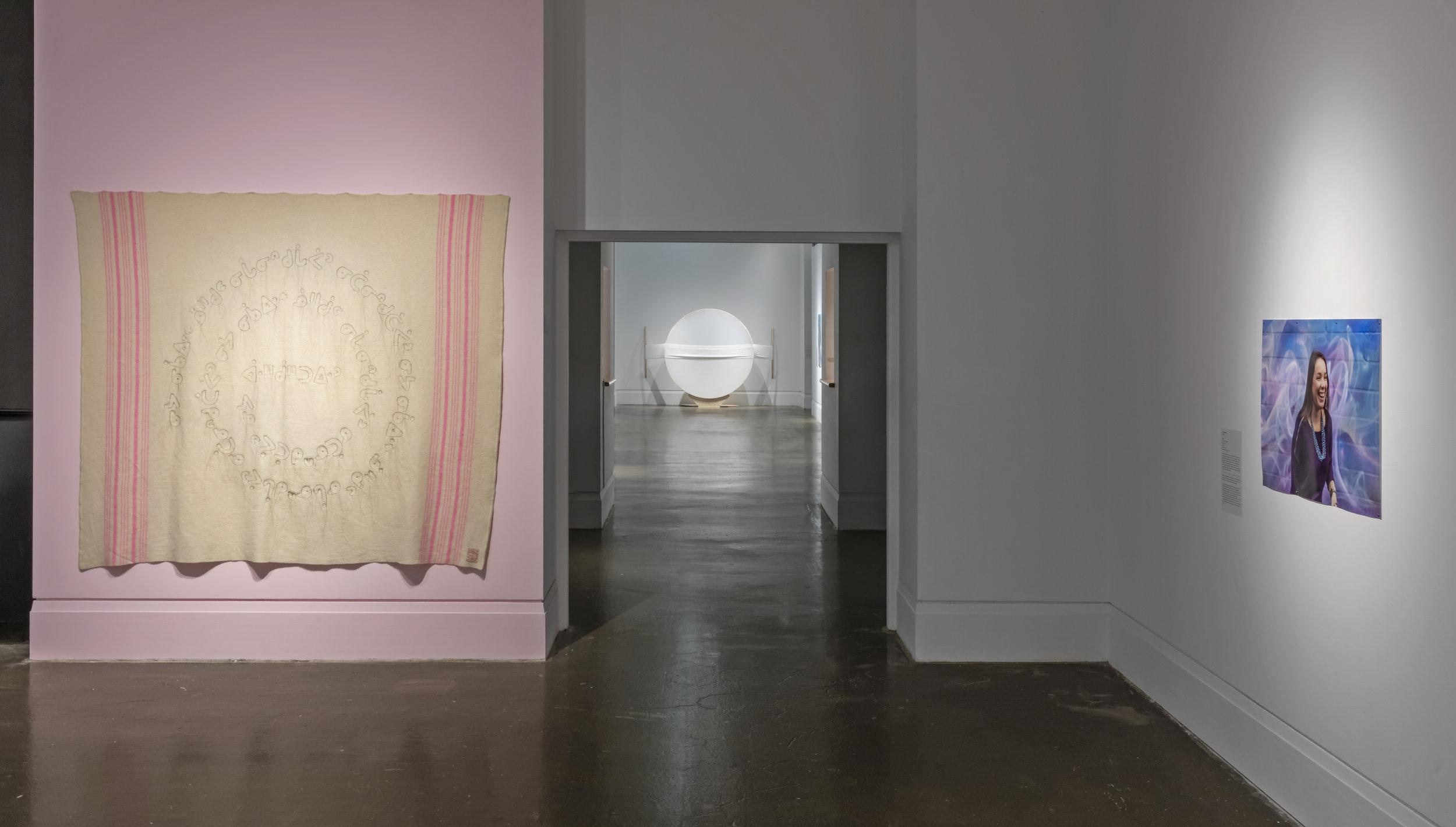 niigaanikwewag, Main Gallery, Art Gallery of Mississauga, Photo by Toni Hafkenschneid